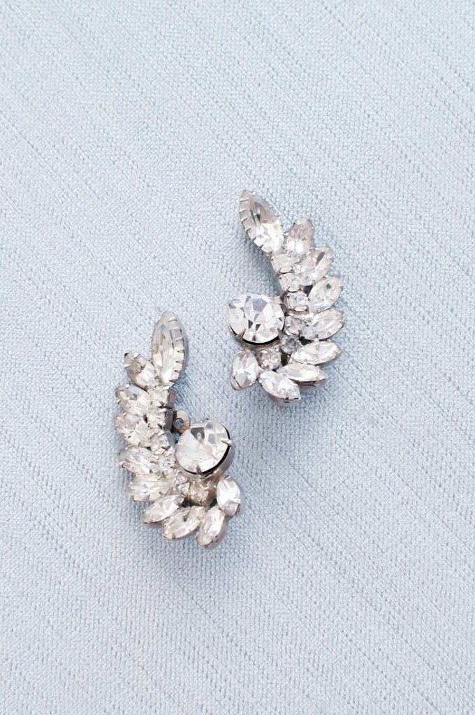 b7cab8966 Vintage Wedding Jewelry Collection from Sweet & Spark: Statement Crawler  Clip-on Earrings
