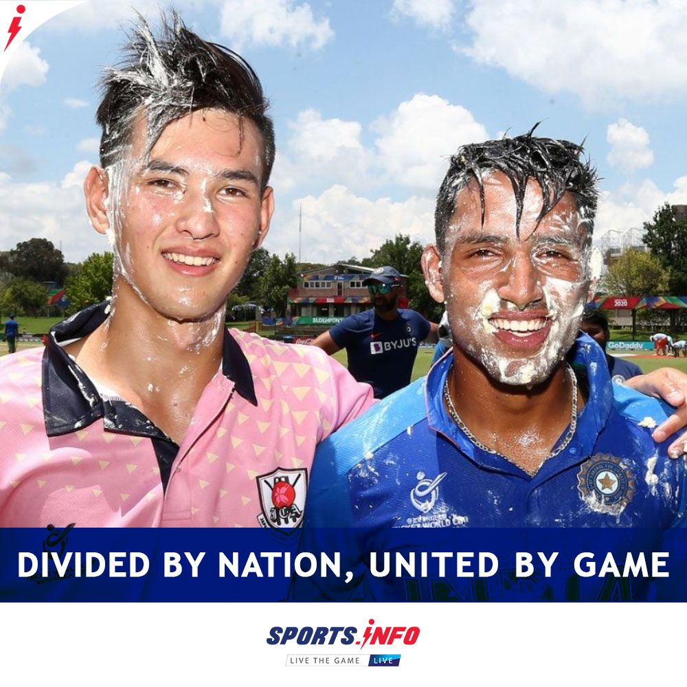 India S Dhruv Jurel And Japan S Kento Ota Dobell Celebrated Their Birthday Jointly During U19 World Cup Match In 2020 World Cup Match Cricket World Cup World Cup