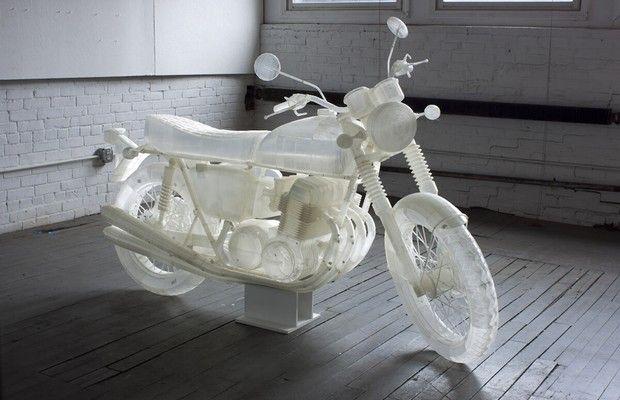 Artista cria Honda CB 500 em impressora 3D (Foto: Divulgação)