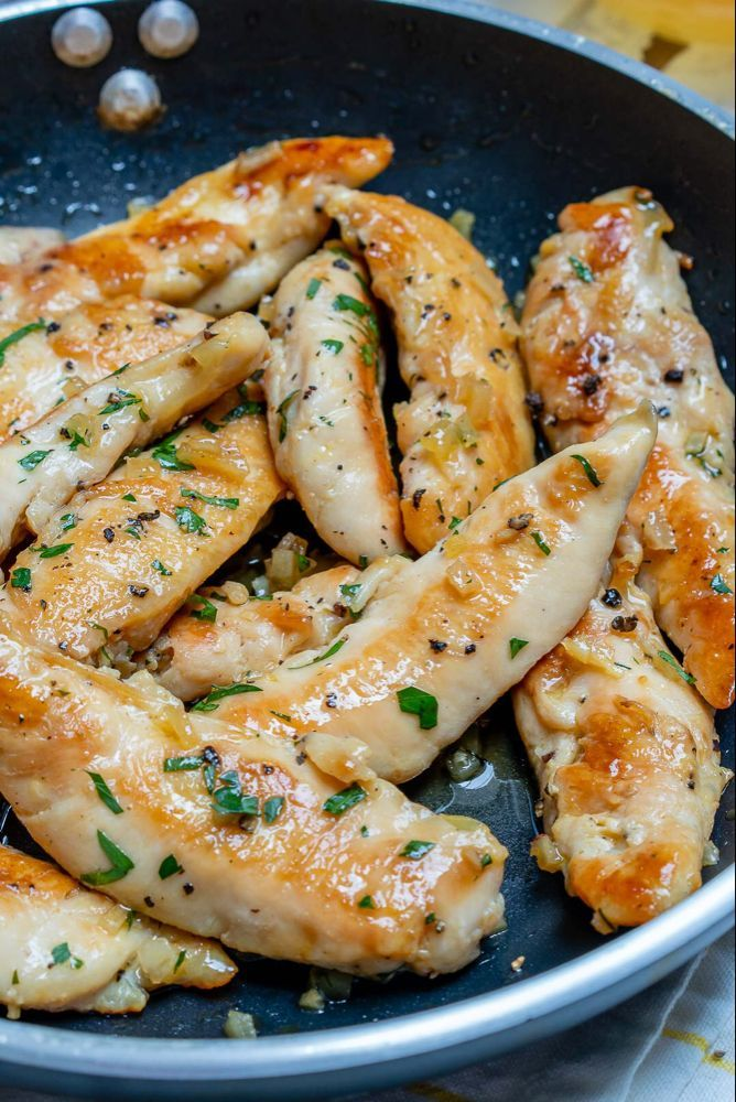 Photo of Honey garlic butter chicken tenders for clean food preparation!