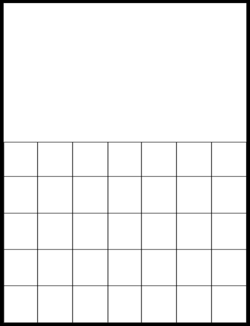 Printable Blank Calendar Grid  Calendars    Printable