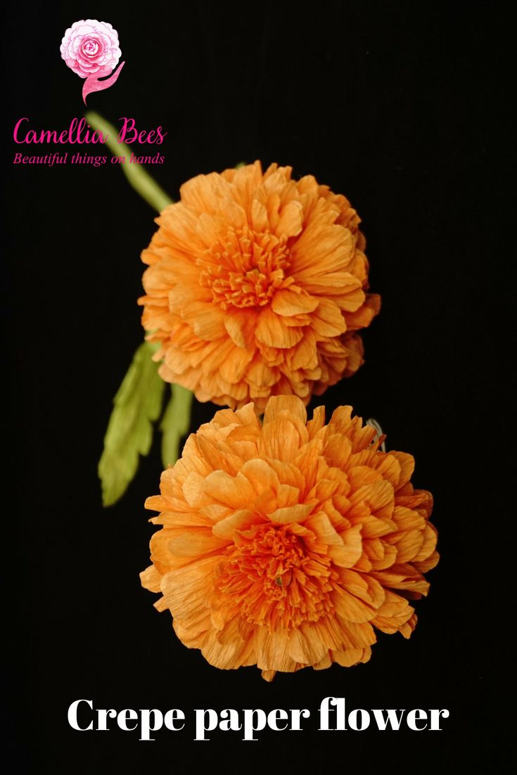 Diy Crepe Paper Flower How To Make Marigold Flower Easy And Fast