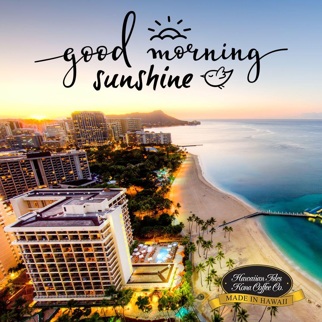 Good Morning Sunshine Kona Coffee Beach Memes And Quotes For Coffee Lovers From Hawaiian Isles Kona Coffee Co Kona Coffee Beach Memes Good Morning Sunshine