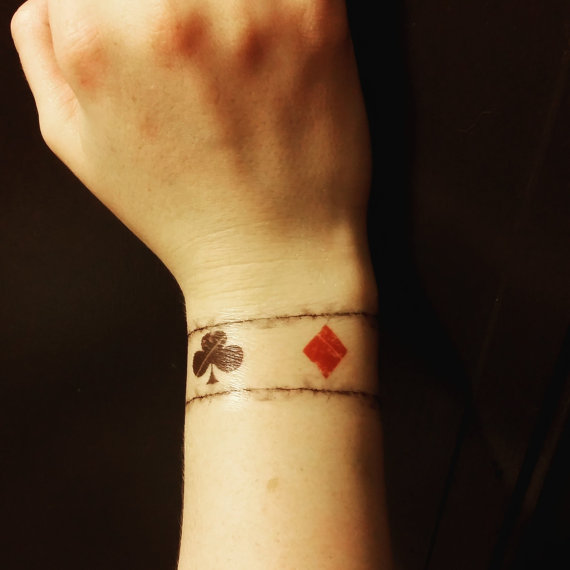 One Direction Inspired Playing Card Wrist Tattoo Louis Etsy Fake Tattoos Wrist Tattoos Tattoos