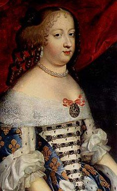 Marie Thérèse of Austria.  Devoted wife to Louis XIV.  She died at Versailles at age 45, on July 30, 1683, just three months after the court was moved to Versailles.