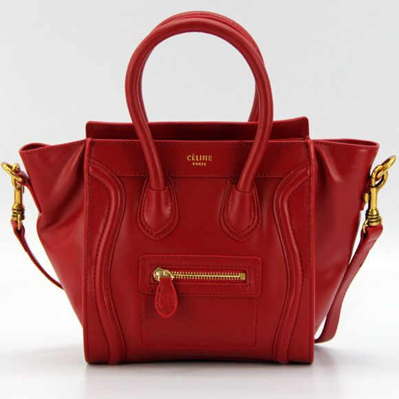 2017 New Replica Celine Calfskin Tote Bag 64410 Red