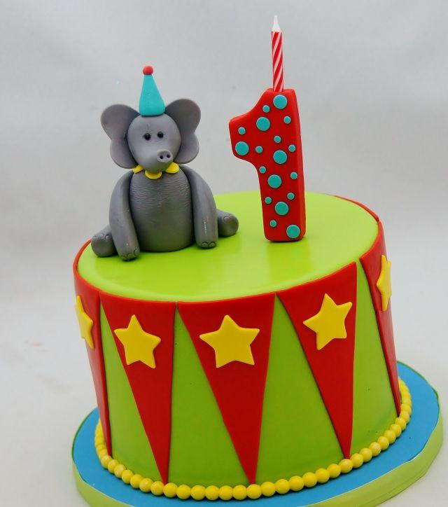 Circus Theme Smash Cake Childrens cakes Pinterest Smash cakes