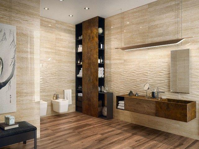 Rivestimento in bicottura effetto marmo lucido julia iperceramica rivestimenti bagno nel - Bagno effetto marmo ...
