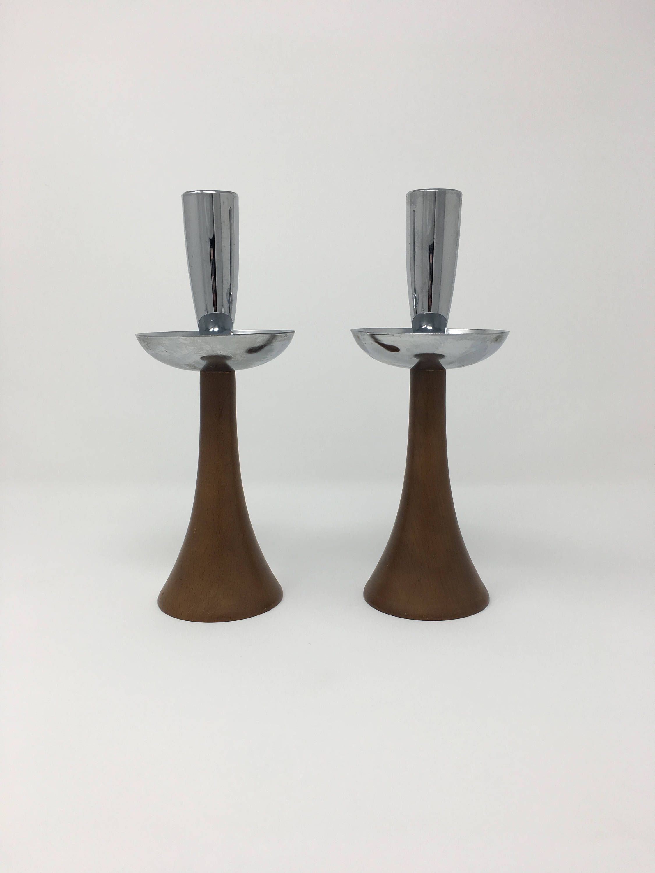 Wooden Candle Holders Taper Set Modern Vintage Candlestick Holder Room Decor Home Accents By