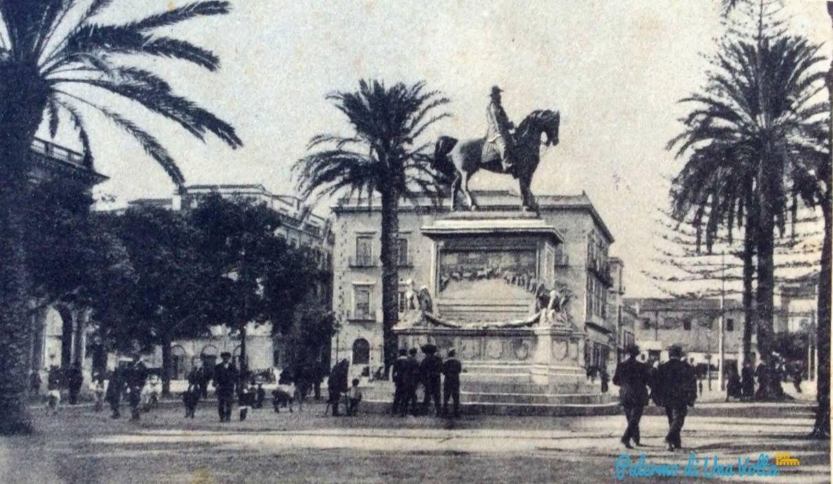 Piazza Giulio Cesare primi del 900 Giulio cesare e Palermo