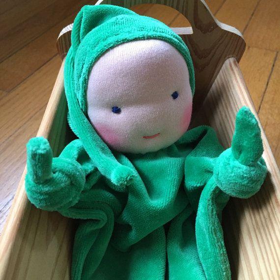 Waldorf blanket doll, security blanket, teething doll, Waldorf Toy, Germandolls, gift for baby, baby shower gift, Easter basket treat
