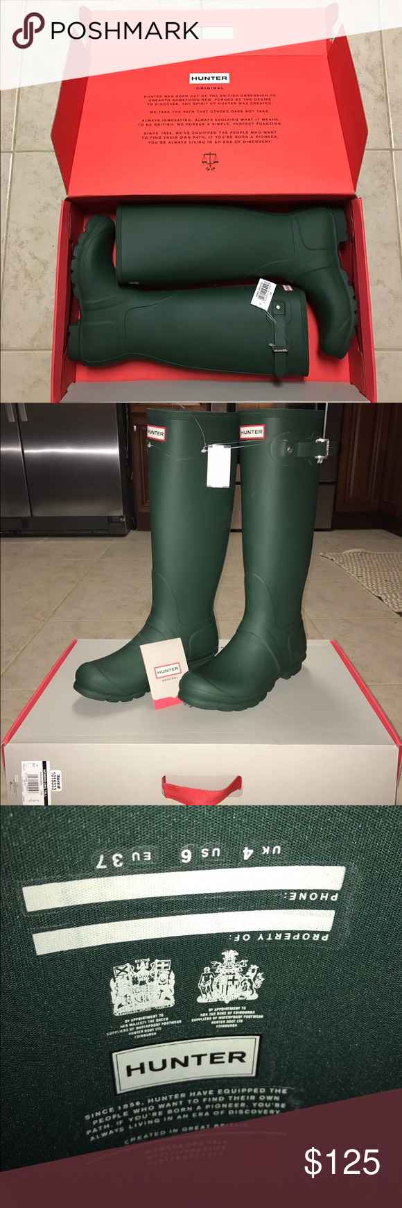 Hunter Boots Size 6 NWT | For less, Hunter boots and Rain
