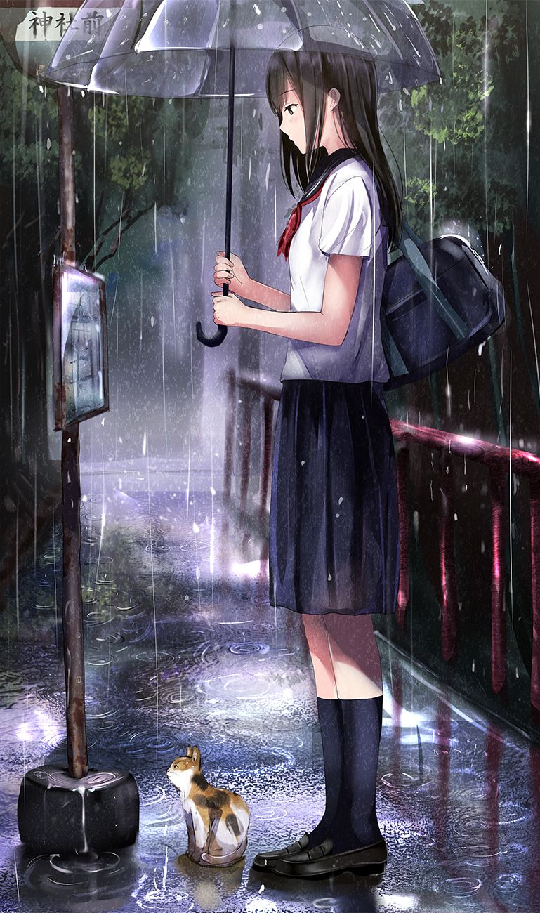 Taking shelter from the rain [Original] Anime, Hình ảnh