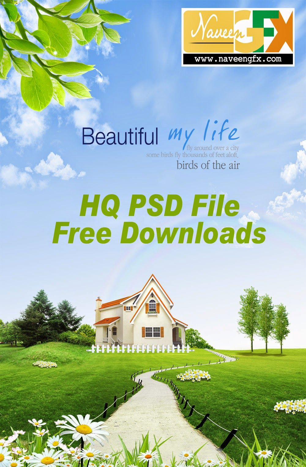 Www Naveengfx Com Spring Psd Background Free Download Psd Files