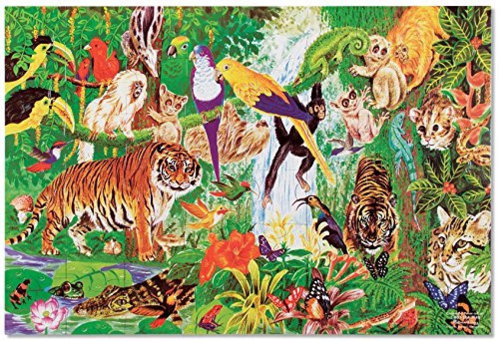 Melissa Doug Rainforest Floor Puzzle 48 Pcs 2 X 3 Feet