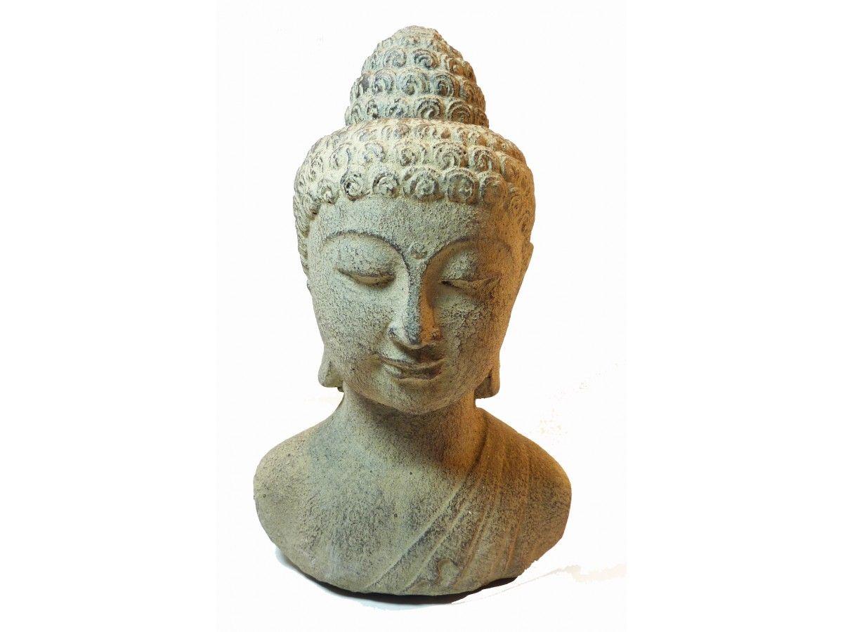 Statue Tête Bouddha en Pierre #bouddha #statue