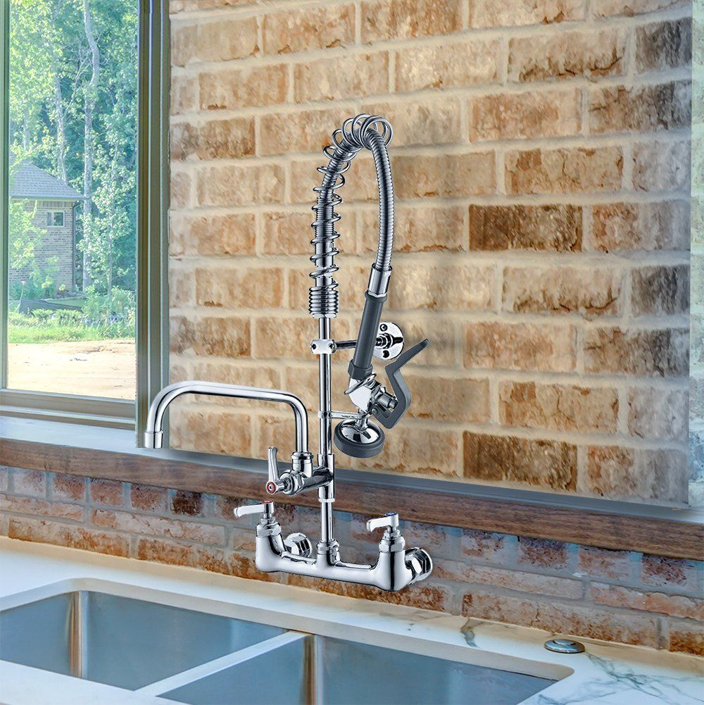 Jzbrain Double Handle Commercial Kitchen Faucet 25 Height 8