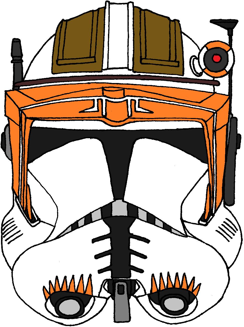 Clone Trooper Commander Cody Helmet 2 | Clone Trooper Helmets ...