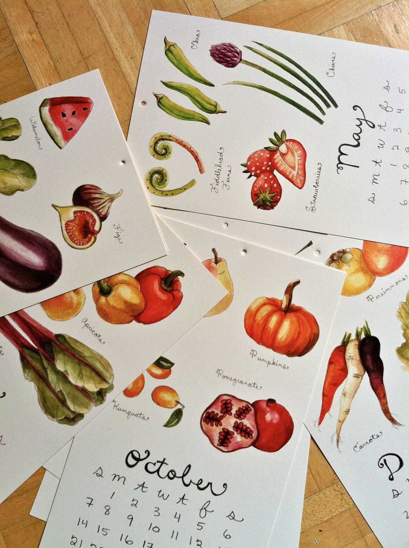 Seasonal Fruits and Vegetables Calendar 2012. $25.00, by Brooke Weeber.