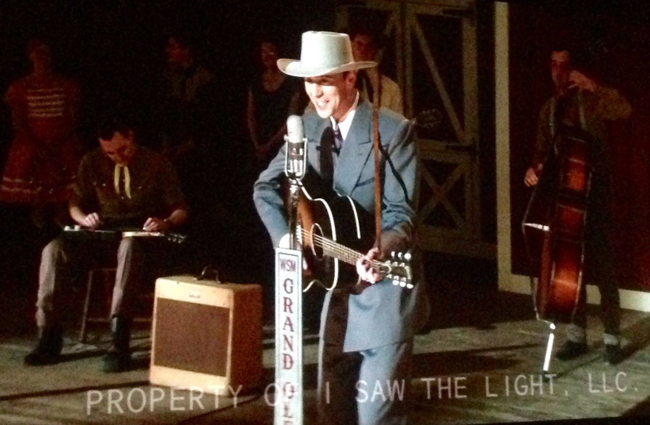 """Thanks to precursorpress on Tumblr: """"Holy hell…this is gonna be good.and thanks to@sonnet66 for listing their source of the original post-production shot they posted from a few weeks ago."""" - as Hank Williams, the legendary country singer, in the biopic 'I Saw The Light' (2015)"""
