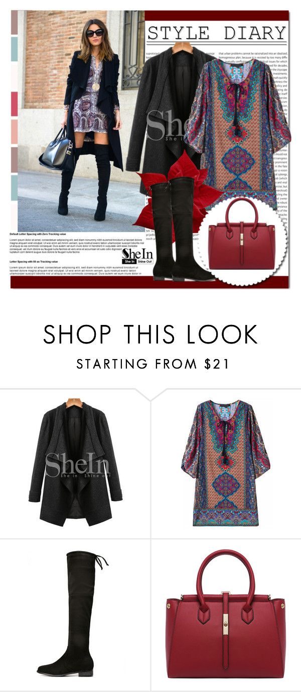 """SheIn #6 (V)"" by cherry-bh ❤ liked on Polyvore featuring women's clothing, women, female, woman, misses, juniors and shein"