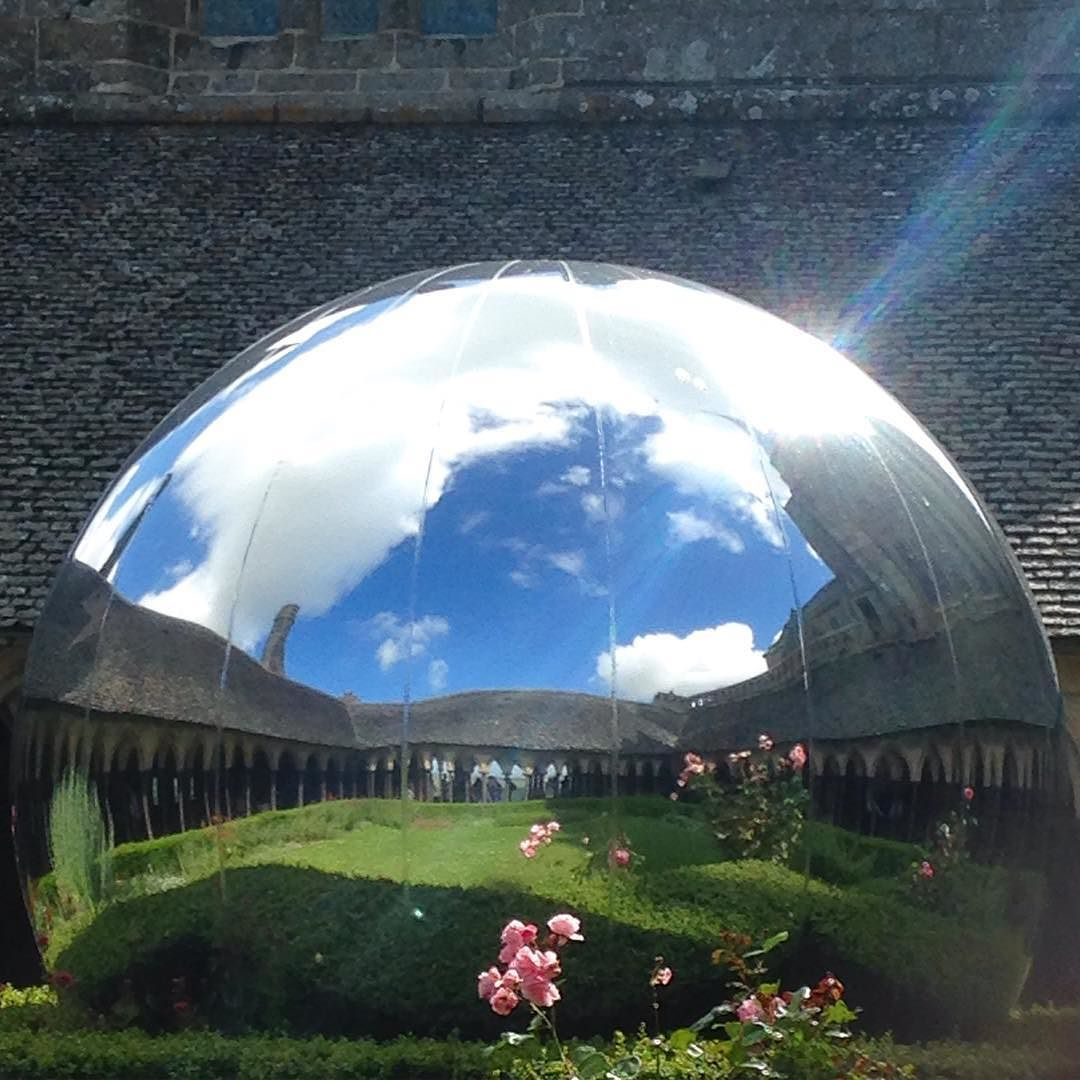 The mirror ball in the Abbey on Le Mont Saint-Michel  #art #artsy