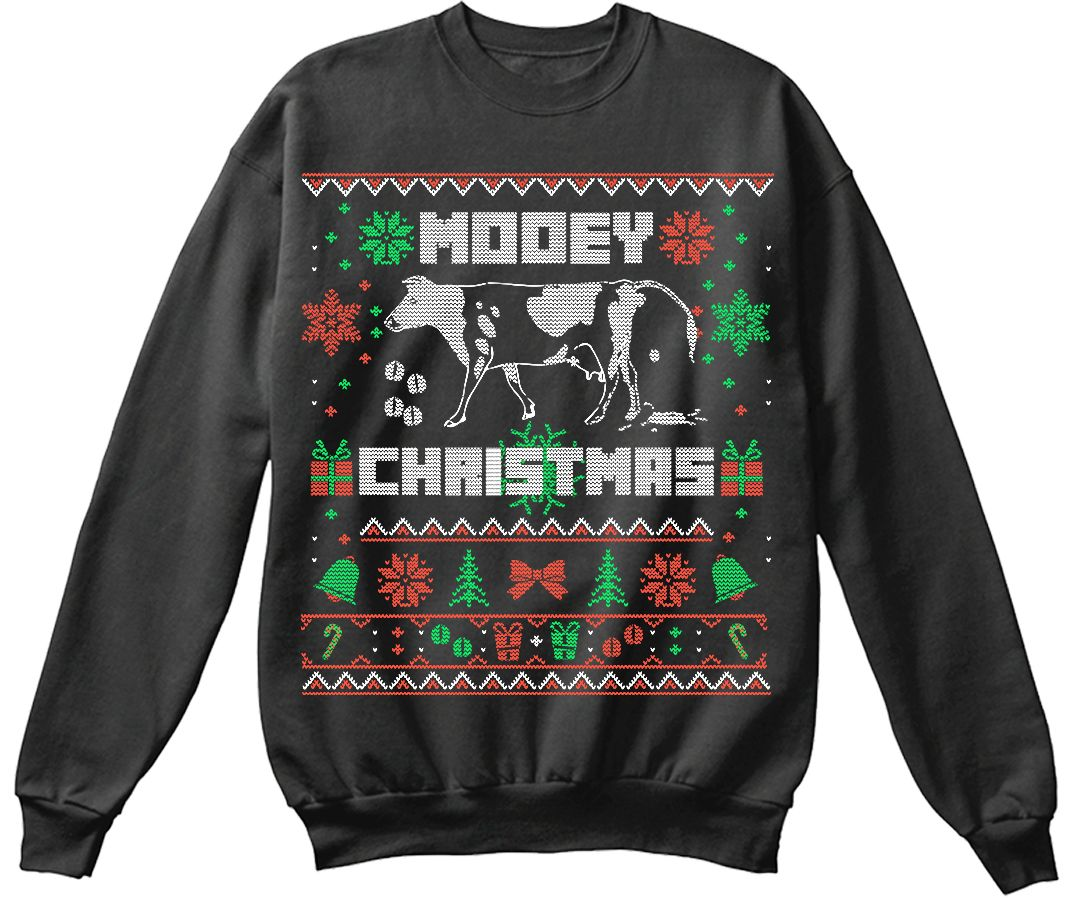 Mooey Fun Farmer Ugly Christmas Sweater Its The Most Wonderful