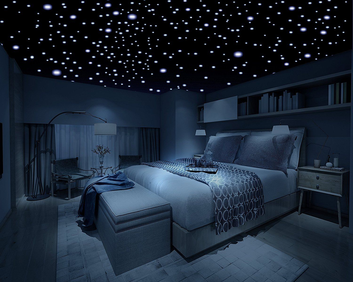 Removable Decal Art Mural Home Kids Bedroom Decor Wall Sticker Dark Stars 3D NEW is part of Kids bedroom Decoration -