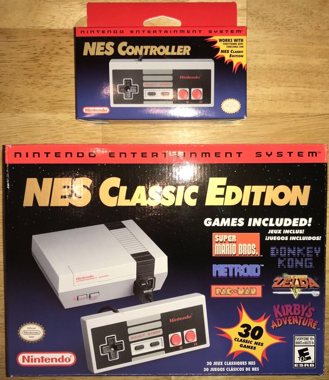 Nintendo Nes Classic Edition Mini 2018 Nes Controller Set Brand New