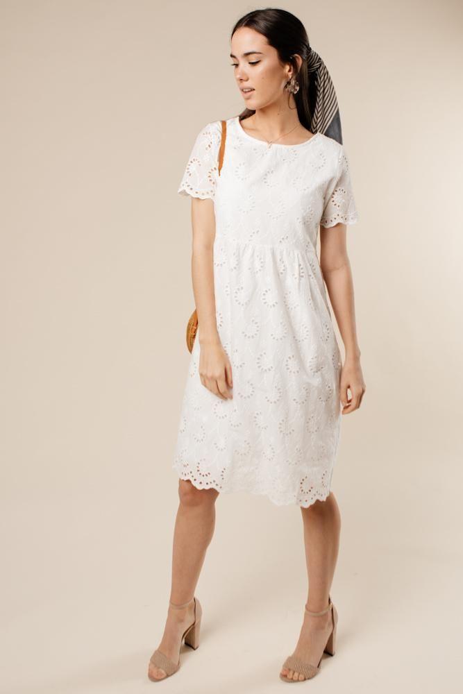 ae5c617626c Y.A.S twist detail satin floral midi dress in white in 2019
