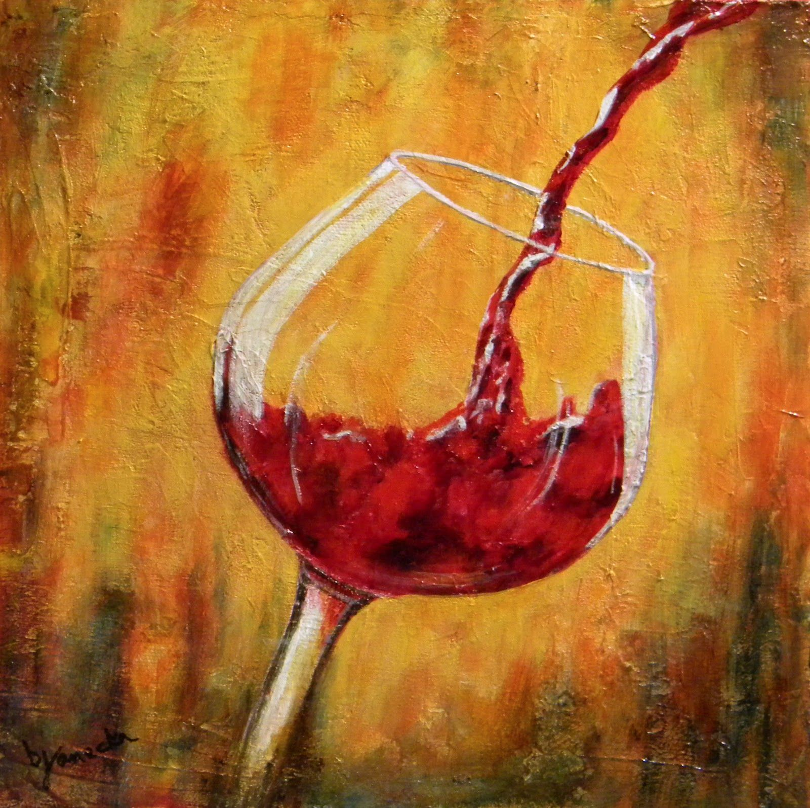 Fine Art By Barbara Janecka Red Wine Wine Wall Art Wine Glass Art Wine Painting
