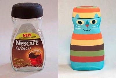 Manualidades para reciclar frascos de caf diy manua for Reciclar frascos de vidrio de cafe