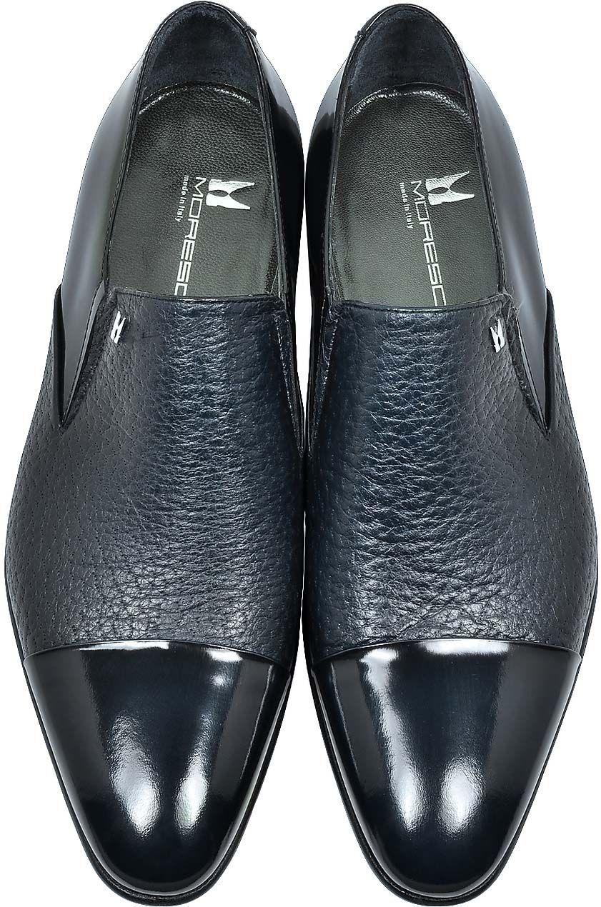 df9b8c16fa9f MORESCHI Metz Blue Leather Slip on Loafer. MORESCHI Metz Blue Leather Slip  on Loafer Mens Fashion Shoes ...