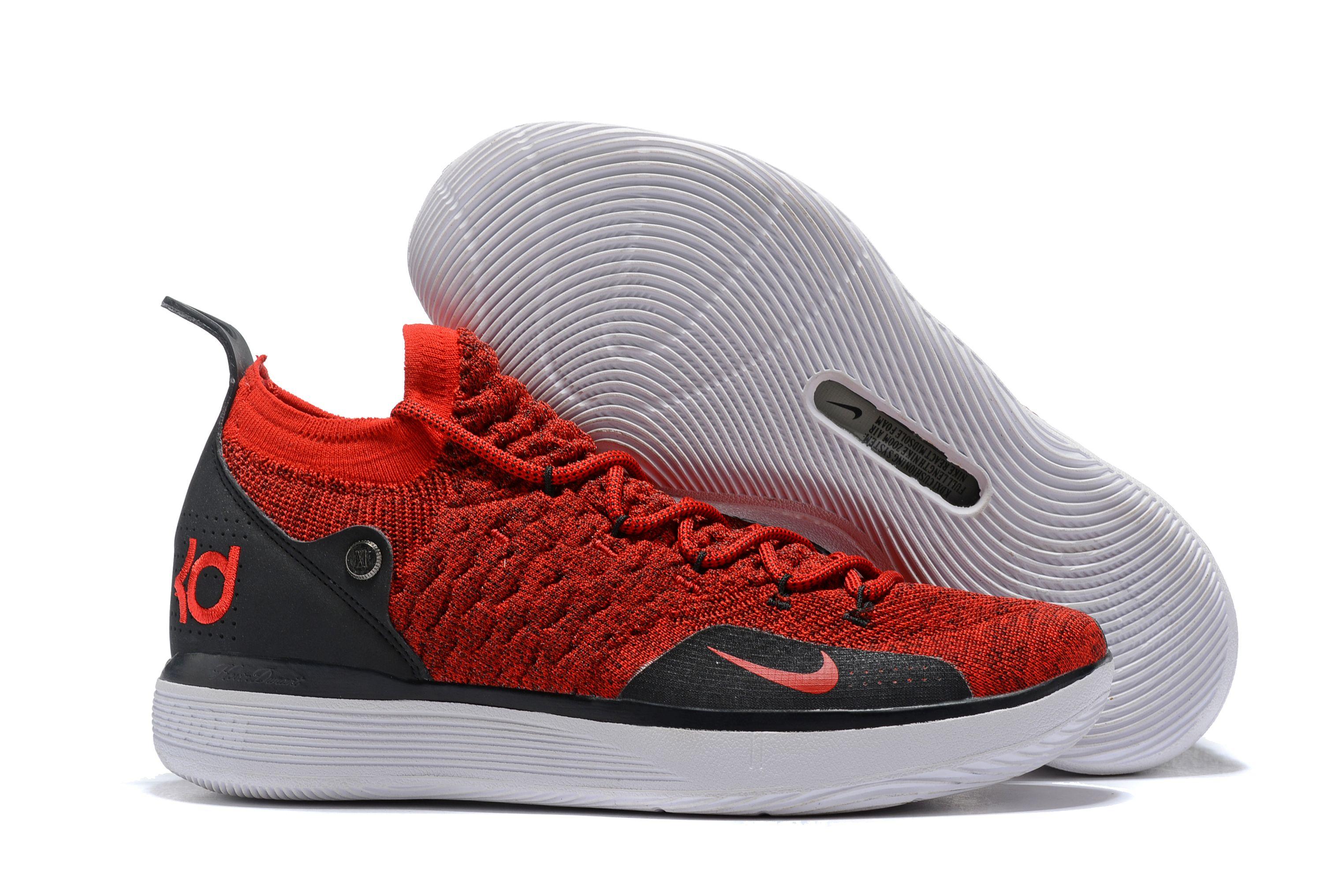 Men's Nike KD 11 Red Black White 2018