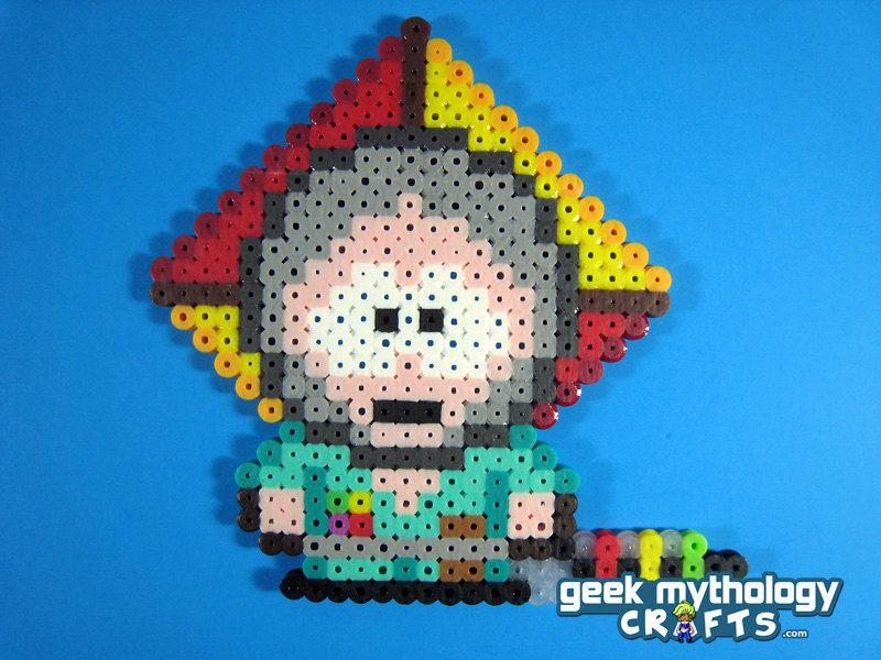 The Human Kite - South Park (square board) | Perler