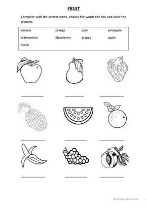 VOCABULARY FRUIT worksheet - Free ESL printable worksheets made by ...