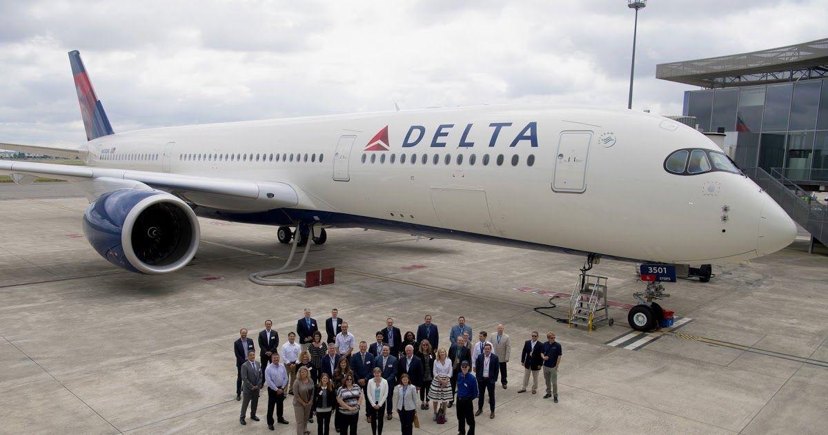 Delta recebe o primeiro flagship Airbus A350900 XWB