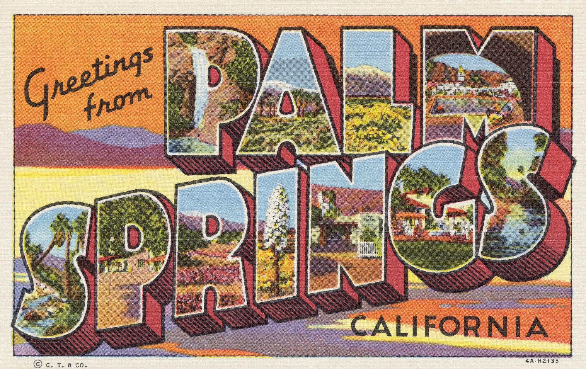 Greetings from palm springs postcard pinterest palm springs greetings from palm springs postcard by stephen h willard m4hsunfo