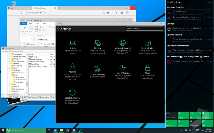 Windows 10 gets a new dark theme and you can enable the