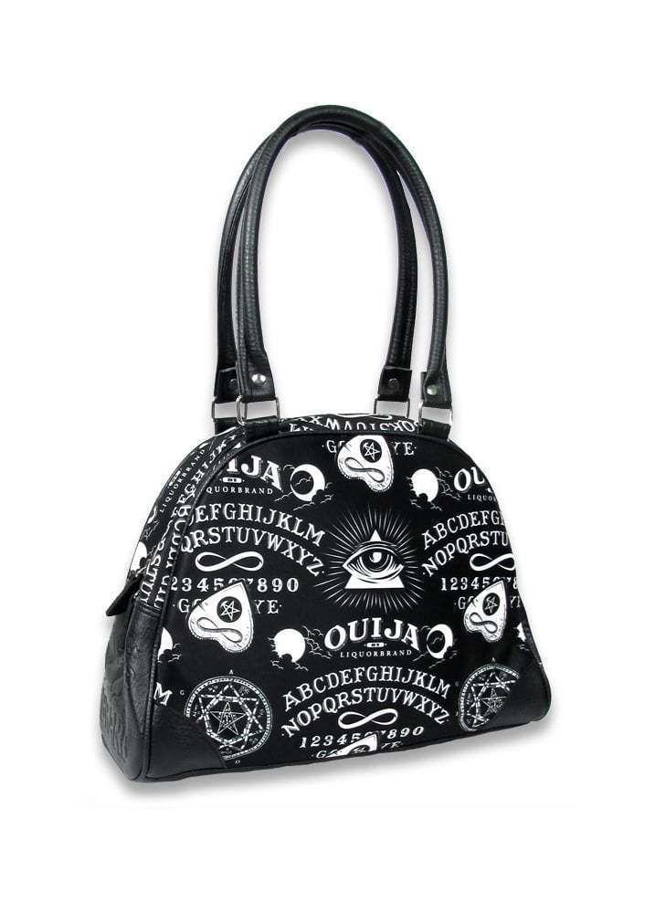 Ouija Board Occult Witchcraft Skull Bowling Bag Handbag Liquor Brand Punk Goth