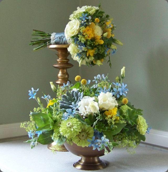 tweedia  floral verde