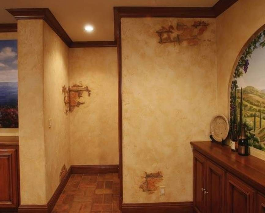 Home Design And Decor Tuscan Wall Paint Ideas For Home Tuscan Wall Paint Ideas With Brick