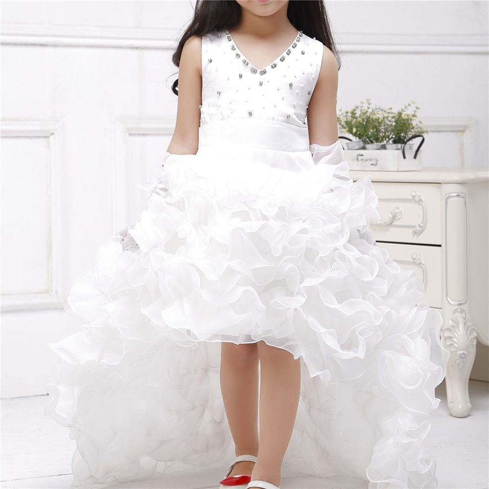 Azel 2017 Brand Train Formal Girl Dresses Children White Princess Vestidos  Kids Clothes Of 4 5 6 7 8 9 10 11 12 Years SKF154024 8cc87deb7dc2