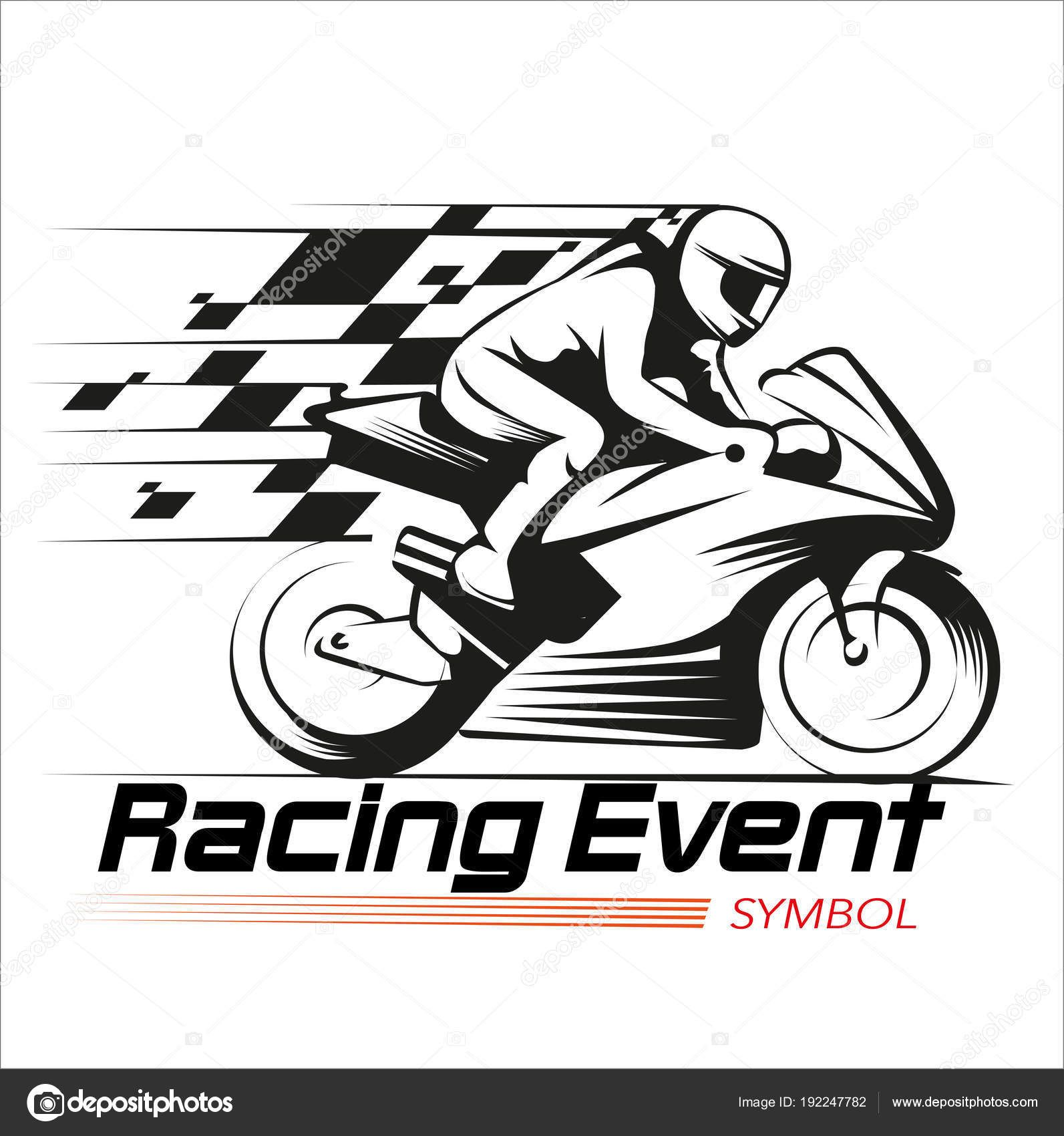 Download Vector Illustration Motorcycle Racing Event Symbol