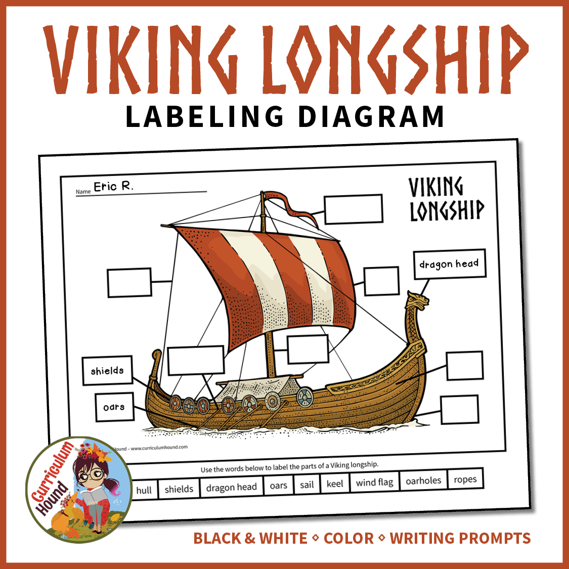 Label A Viking Longship Diagram