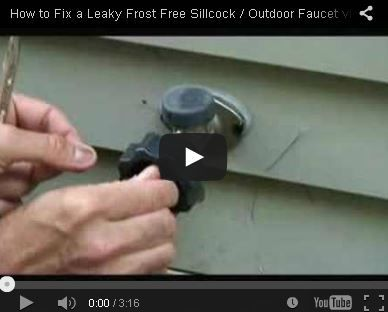 How to Fix a Leaky Frost Free Sillcock / Outdoor Faucet Video - http ...