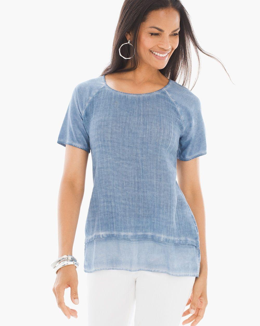 GauzeKnit Top Tops, Women, Clothes