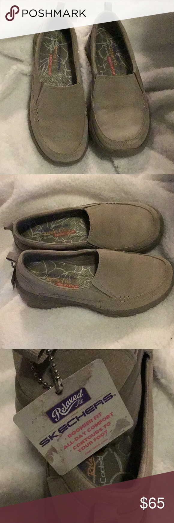 Skechers Air Cooled Memory Foam shoes 7.5 Leather Leather