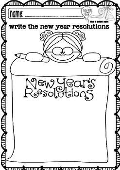 new year maths and ela funny worksheets pre k 1st grade all creations 1 worksheets. Black Bedroom Furniture Sets. Home Design Ideas