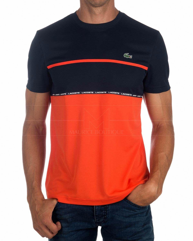 b49c1a7da Camiseta LACOSTE ® Sport ✶ Azul Marino   Naranja
